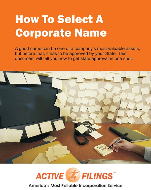 How to Select a Corporate Name eBook